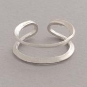 Χειροποίητο δαχτυλίδι - φεγγάρι από ασήμι D3499a