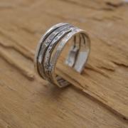 Aνδρικό δαχτυλίδι βέρα από ασήμι 925, χειροποίητο δώρο DA12