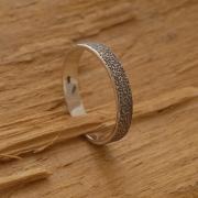 Aνδρικό δαχτυλίδι - βέρα από οξειδωμένο ασήμι  DA20