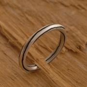 Ματ ανδρικό δαχτυλίδι από ασήμι οξειδωμένο, στρογγυλή φόρμα DA25