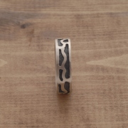 Men's band ring, men's handmade ring in oxidized silver DA28