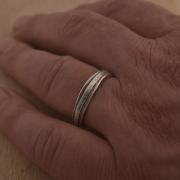 Χειροποίητο οξειδωμένο ασημένιο δαχτυλίδι DA80