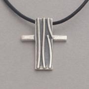 Ιnspirational cross necklace, in oxidized silver, for men or women, handmade cross ST385