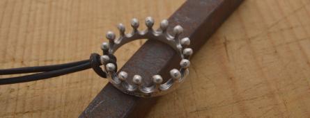 Handmade sterling silver pendants