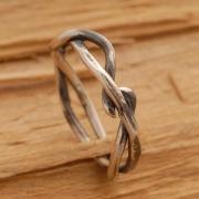 Κλαδί δέντρου, χειροποίητο δαχτυλίδι βέρα από ασήμι οξειδωμένο D1264b